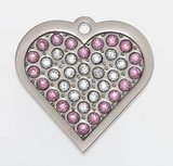 """Sparkling Bling Pink Heart """"Coco""""_3"""