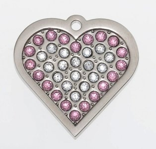 """Sparkling Bling Pink Heart """"Coco"""""""